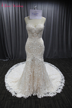 2020 Vintage Lace Wedding Gown Sweetheart Neckline Sexy Backless Bridal Wedding Dresses Long Train Woman Marriage Party Dresses