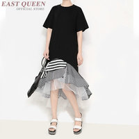 Women asymmetric dresses black autumn fashion gothic medieval dress long sleeve dress asymmetric female AA3290