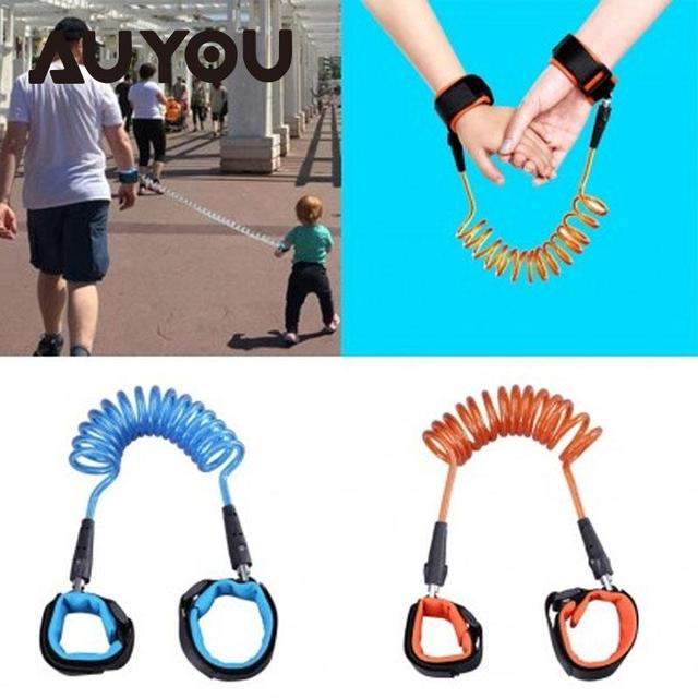 AUYOU Toddler Kids Baby Keeper leash Adjustable Anti Lost Strap Wrist Link Safety Traction Belt  Child Safety Harness Wristband