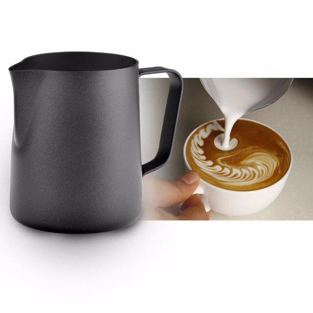 Black Milk Jug For Steaming And Latte Art 2