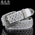 Fashion hollow Sra. cinturón cinturón de cuero modelos femeninos de diamantes decoración del zurriago de la correa de ancho