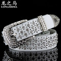fashion hollow Ms. belt leather belt female models diamond decoration cowhide belt wide
