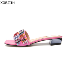 2019 Flat Sandals Women Shoes Summer Fashion Fend Style Slip On  Sandals Sexy Ladies Luxury Party Pink Slippers Plus Size Shoes цены онлайн