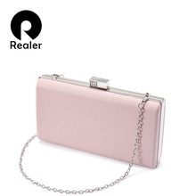 REALER women handbag party wedding PU leather fashion Party clutches f