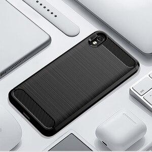 "Image 3 - Funda a prueba de golpes para Xiaomi Redmi 7A, funda de fibra de carbono cepillada para Xiaomi Xiomi Redmi 7A 2019 5,45"""