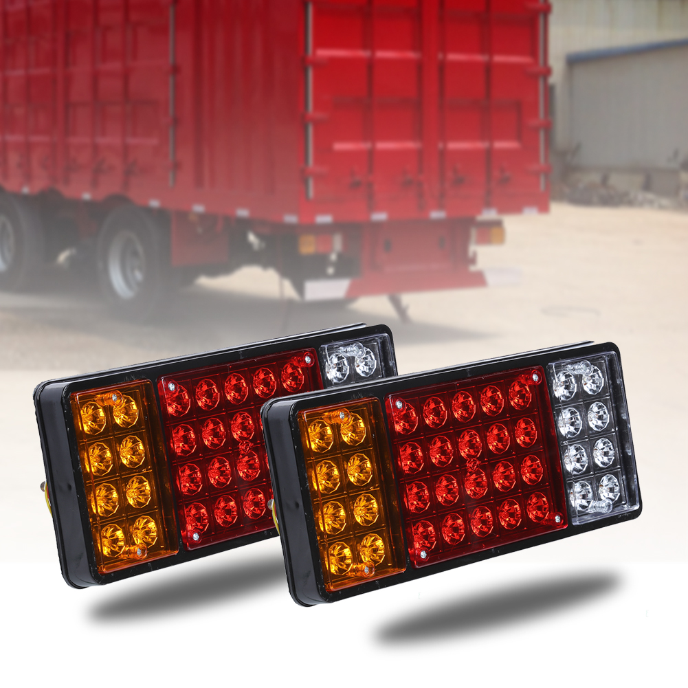 2Pcs Waterproof LED Taillight Panel for Dongfeng Car Heavy Truck 36LEDs Tail Light Turn Rear Brake Lamp Bar 12V Auto Accessories
