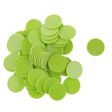 100x 25MM High Quality Plastic Casino Poker Chips Bingo Markers Token Fun Toy Gift Green