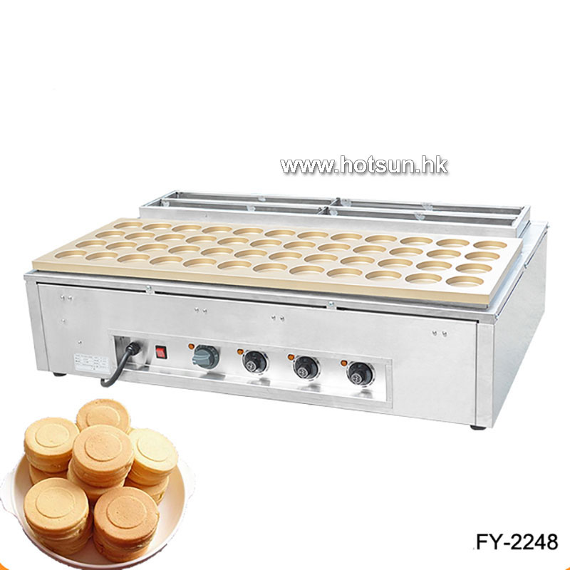 Free Shipping Commercial Heavy Duty Non-stick 220V Electric 48pcs 7.5cm Obanyaki Red Bean Waffle Maker Iron Machine commercial heavy duty non stick 220v electric ribbed
