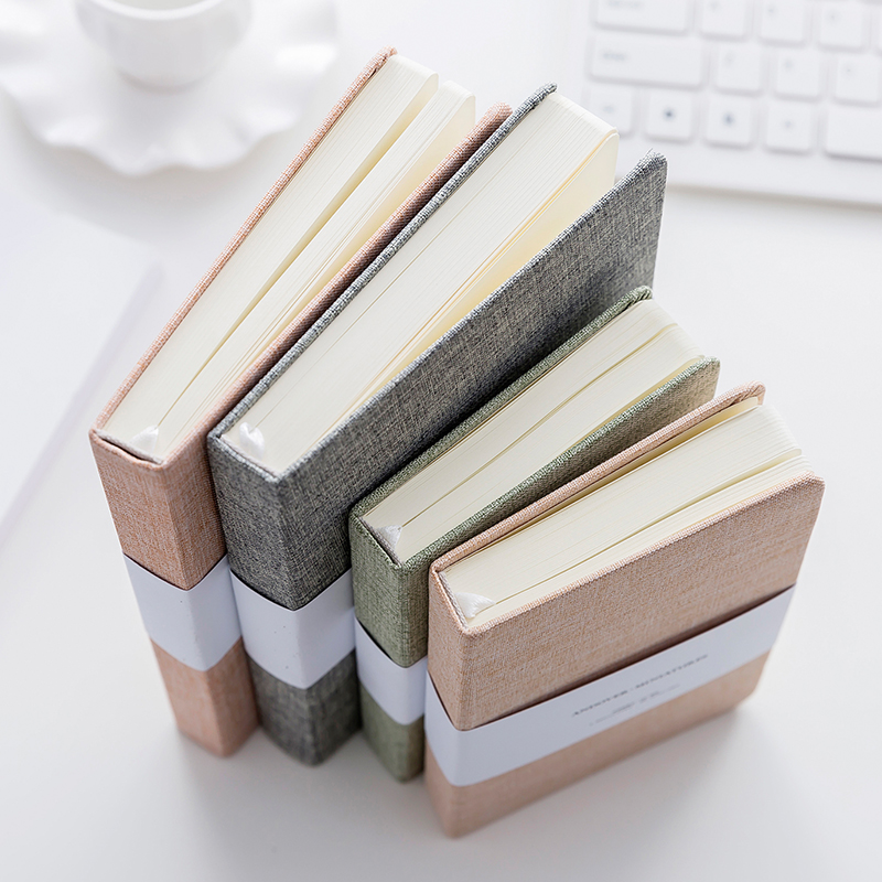 32 K Simples Cobertura de Pano Notebook Moda Em Branco Bonito Notebook Notebook Viajante