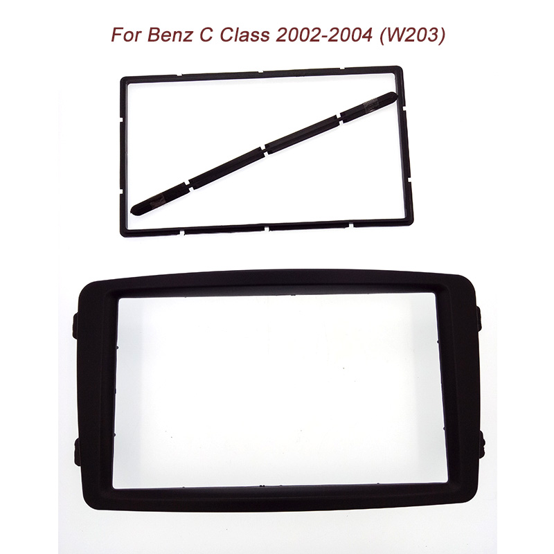 High quality free ship 2Din Stereo Panel for Benz C CLASS W203 2002-2004 Fascia Radio DVD Mounting Installation Frame