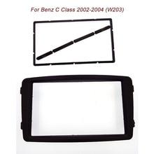 Envío gratis 2Din Estéreo Panel de alta calidad para el Benz CLASE C W203 2002-2004 Fascia Radio DVD de Instalación de Montaje marco