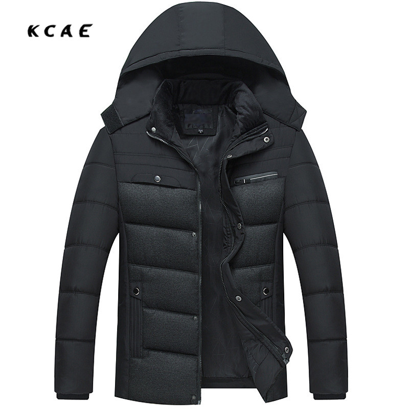 Winter Coat Men Casual Warm Windbreaker with Hood Cotton Duck Jackets Men's Winter Jackets and Coats Men Thick Warm Padded Coat