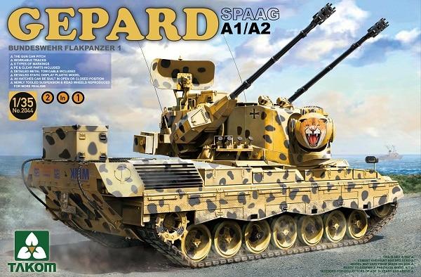 Takom 1/35 Bundeswehr Flackpanzer1 Gepard SPAAG A1/A2 #2044