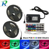 Led Strip Lights DC 12V Flexible LED Tape No Waterproof led strips 5m/roll rgb led strip 12v Adapter luci natale With Controller