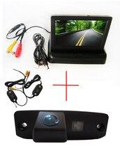 Беспроводной цветной пзс автомобиля камера заднего вида для Hyundai Tucson акцент Elantra Terracan веракрус соната + 4.3 дюймов складной монитор