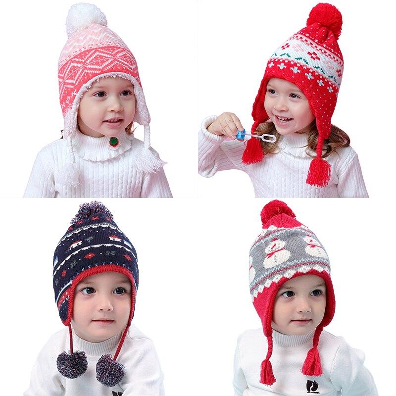 297707dbd4235 Detail Feedback Questions about Warm winter crochet baby hat for children  winter hats kids boys girls earflap hat beanie cap warm lined on  Aliexpress.com ...