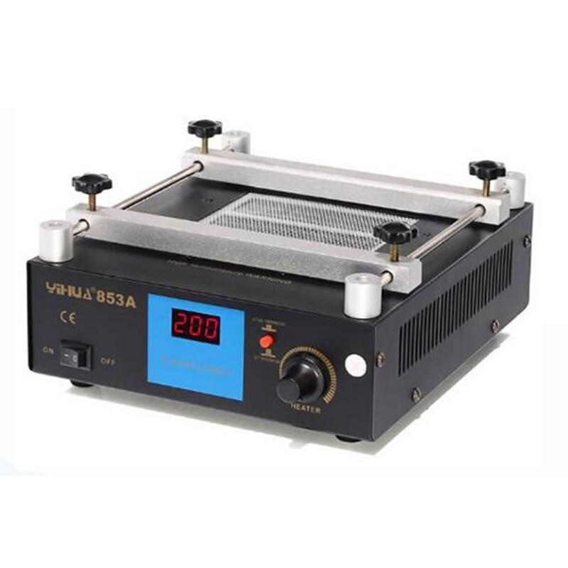 Préchauffeur numérique plaque chauffante station YIHUA 853A avec 120*120mm zone de préchauffage