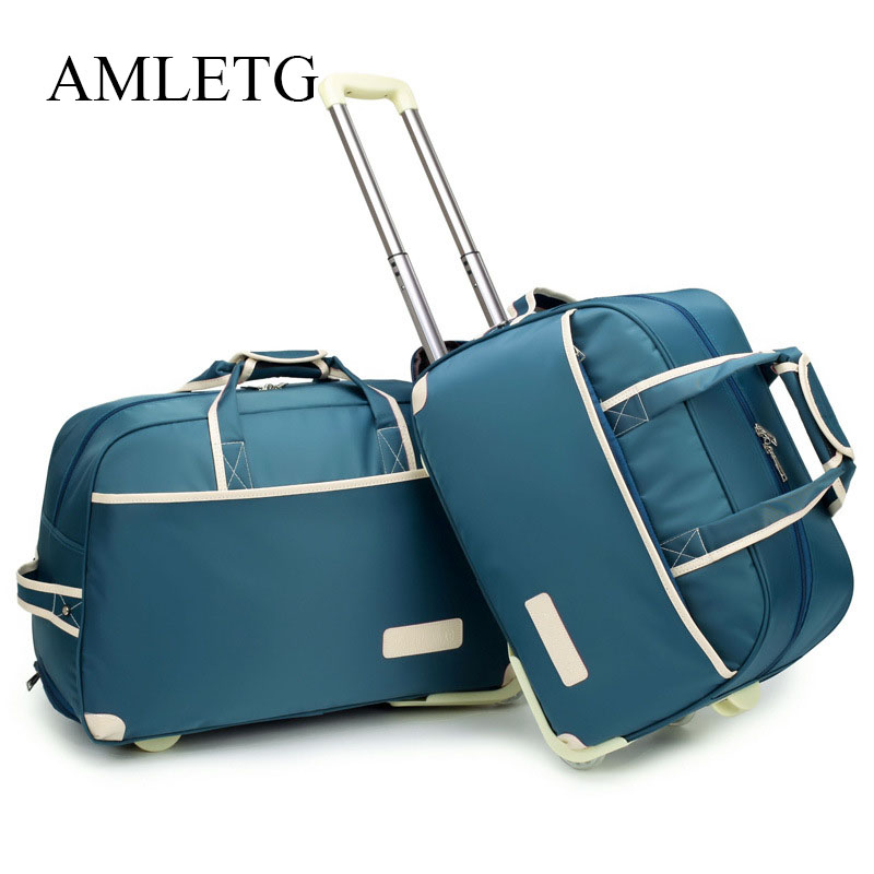 Rolling Suitcase Fashion Waterproof Luggage Bag Thickening R