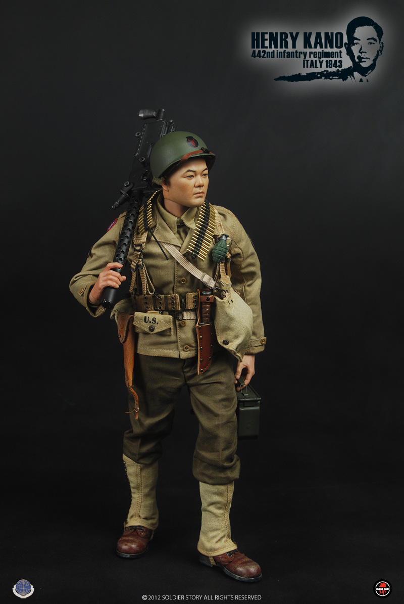 1/6 scale figure doll plastic model toy WWII Henry Kano 442nd Infantry Regiment in Italy 1943 Collectible 12 action figure doll measles immunity status of children in kano nigeria