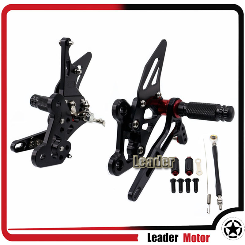 For SUZUKI GSX-S750 GSX-S 750 GSX S750 2016 2017 Motorcycle Accessories Rearset Rear Foot pegs Set for suzuki gsx s750 gsx s750 gsx s 750 gsxs750 2011 2016 motorcycle folding extendable brake clutch levers 20 colors