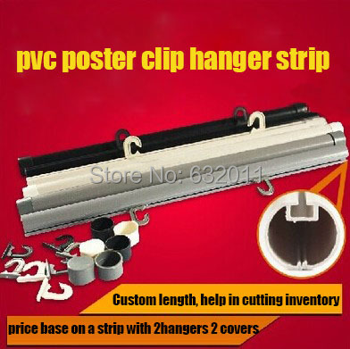 100cm pop plastic poster hanger strip extruded clip poster snap frame banner holder rail support system