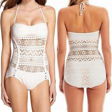 Sexy Hollow Lingerie Hot 2015 New Women Swimwear High waisted bathing suits swimsuit Bechwear Bikini