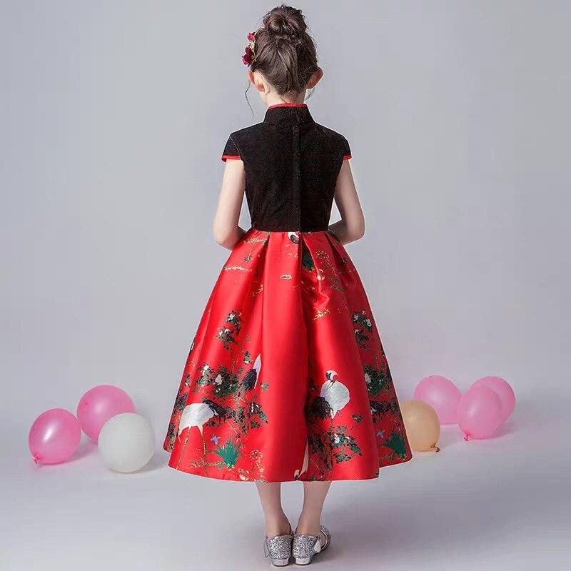 2019 de lujo primavera nuevo estilo chino tradicional de las muchachas de los niños de la noche de la fiesta de cumpleaños modelo de vestido de los niños adolescentes vestido de baile de graduación - 6