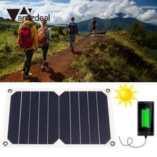 amzdeal DC 5V 5W Monocrystalline Solar Power Panel Efficient Battery Charging Board Outdoor Travelling Powerbank DIY Module Cell