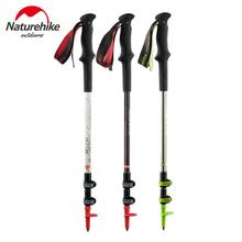 Naturehike Camping Trekking Poles Nordic Walking Stick Ultralight Climbing Pole Hiking Sticks Carbon Cane 2PCS/LOT