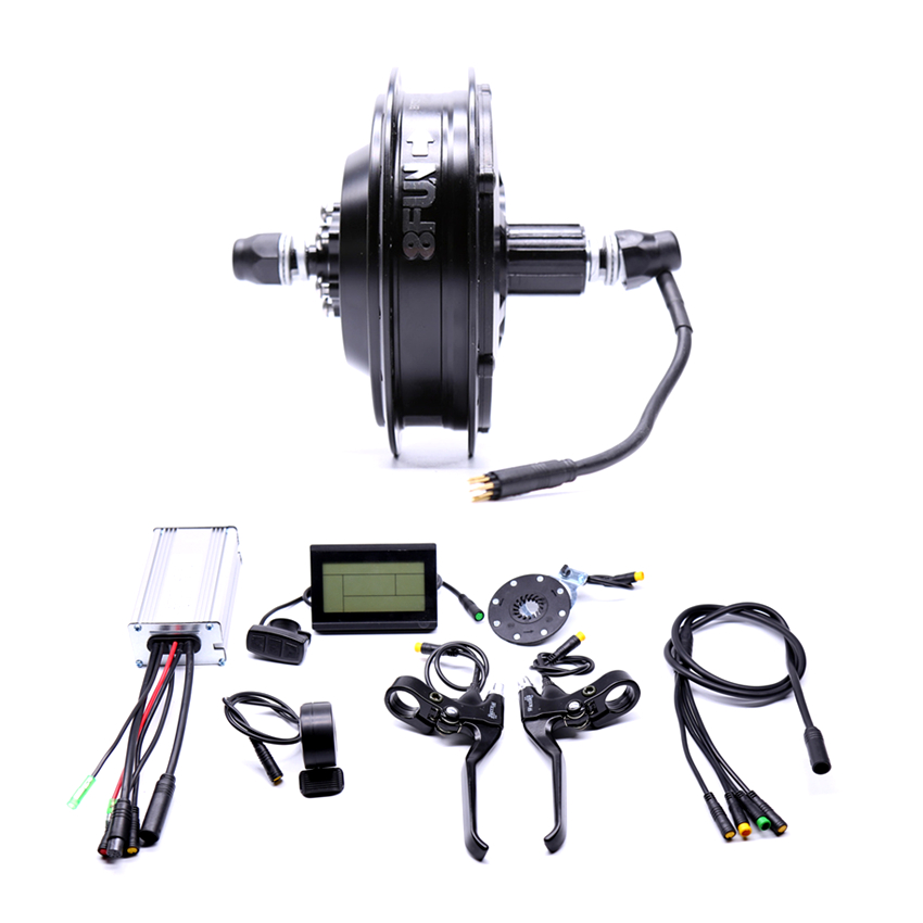Waterproof 48v500w Bafang Cst Rear Cassette Electric Bike Conversion Kit Brushless Motor Wheel With Ebike System eunorau 48v500w electric bicycle rear cassette hub motor 20 26 28 rim wheel ebike motor conversion kit