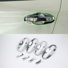 OUBOLUN ABS chrome exterior car accessories door handle bowl cover high quality For SUBARU XV 2017 abs car accessories car body kits door handle cover high power for 2017 mercedes benz vito
