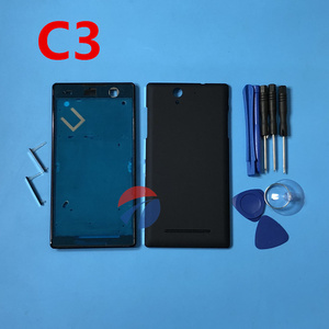 Image 1 - Full Housing Front Frame Chassis + Back Battery Cover Case for Sony Xperia C3 S55U D2502 D2503 D2533 + tools