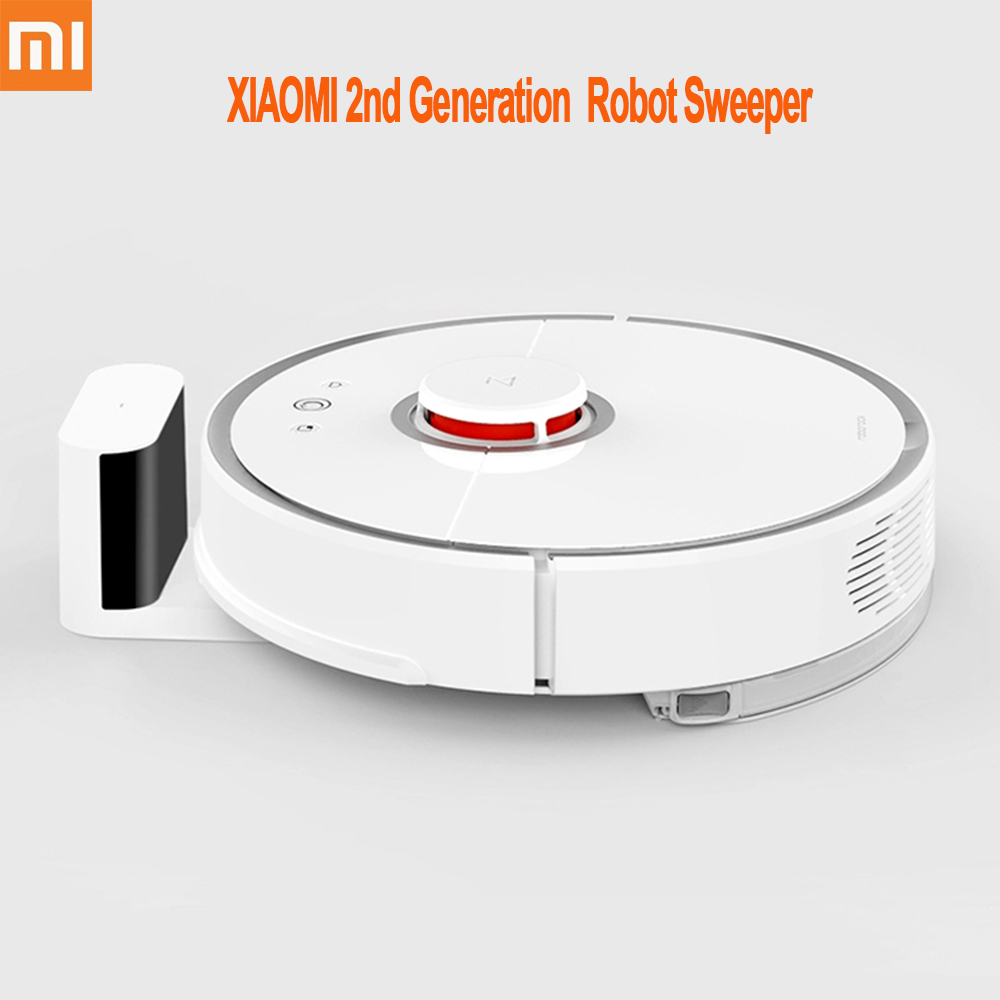 Second Generation XIAOMI MI Home Robot Vacuum Cleaner Automatic Sweeping Dust Sterilize Smart Planned Mobile App Remote Control цена и фото