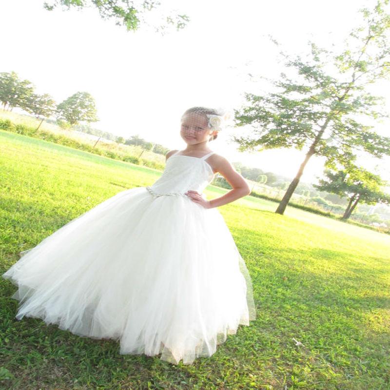 Long Spring Pretty Flower Girls Dresses White Kids Evening Gowns  Ball Gown vestido longo Holy Communion Dresses вечернее платье nieer vestido 2015 gown ss evening dress