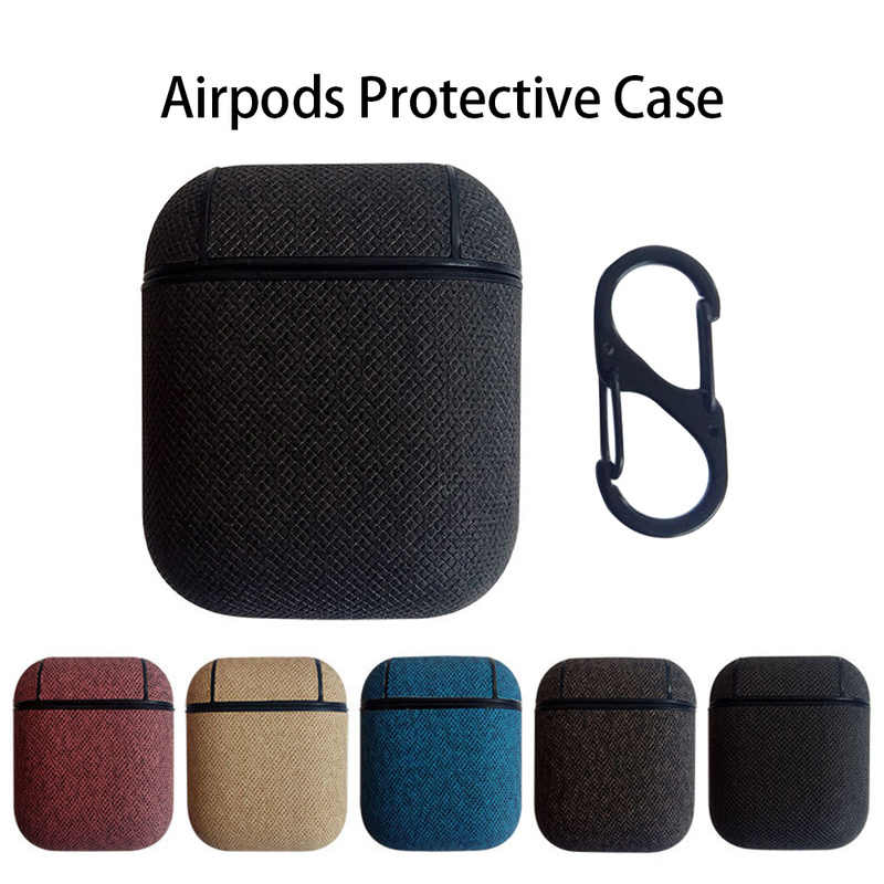 Imitation Leather Material for AirPods Silicone Case Cover Protective Skin for Apple Airpod Charging Case Sport Headphone