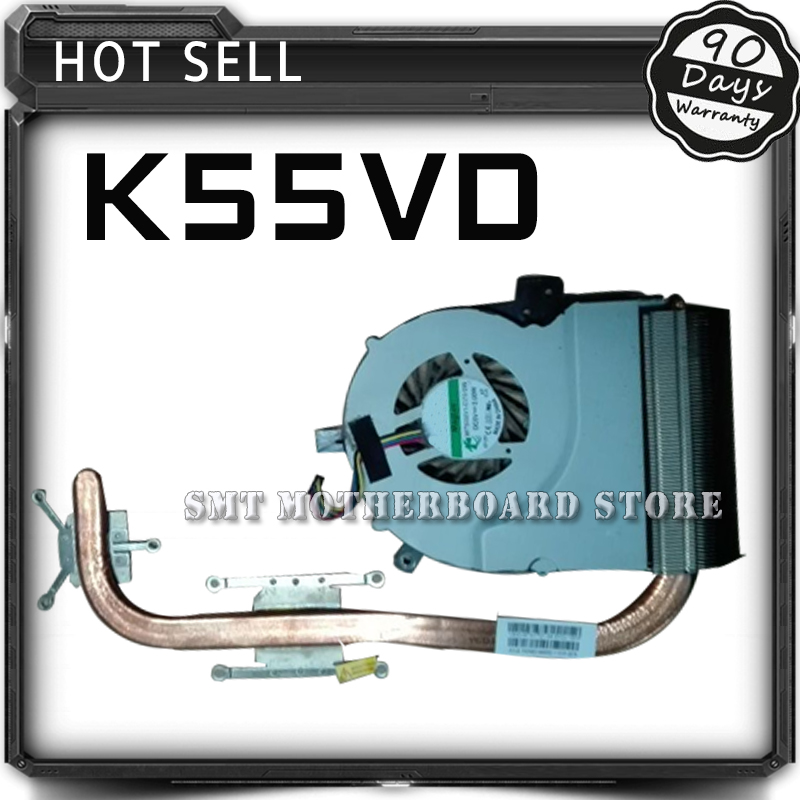 K55VD Brass + Fan K55VD K55V A55V Laptop Motherboard CPU Cooling Fan Radiator Heatsink Cooler Tested Well 1u server computer copper radiator cooler cooling heatsink for intel lga 2011 active cooling