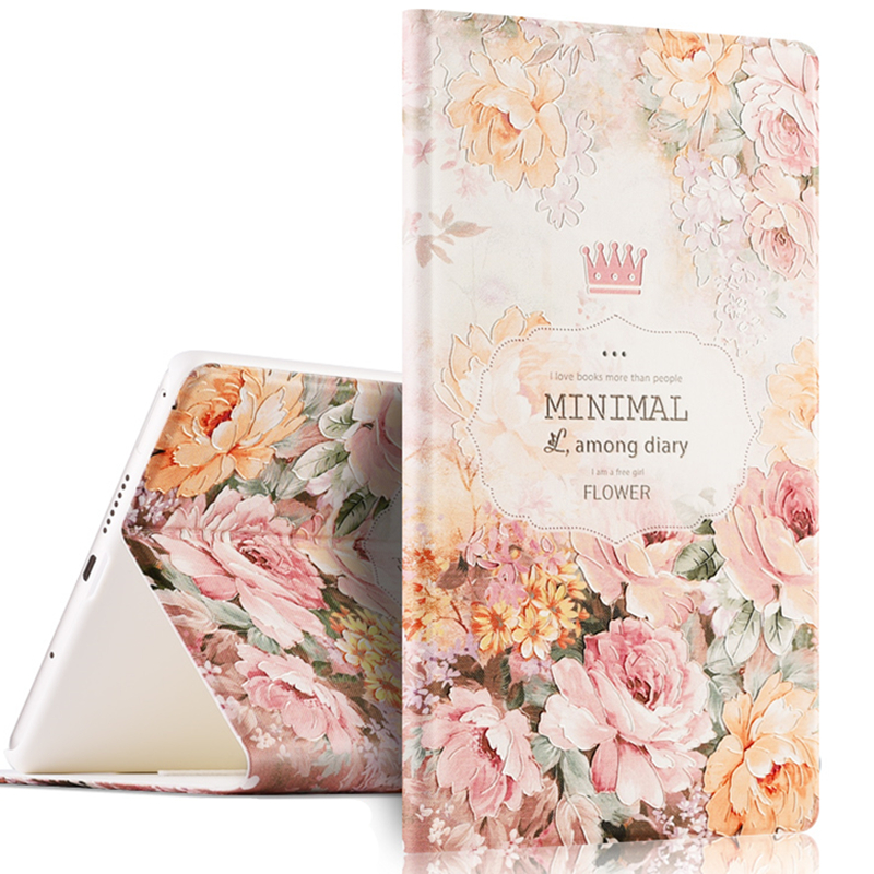 For Huawei Mediapad M3 BTV W09 BTV DL09 8 4 Case 3D Floral Smart Sleep Wake up Tablet Cover for M3 Mediapad 8 4 Funda Capa Para in Tablets e Books Case from Computer Office