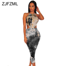 Colorful Tie Dye Elegant Bandage Dress For Women Spaghetti Strap Backless Party Dress Summer Waist Band Cut Out Bodycon Sundress sweet spaghetti strap pure color cut out blouse for women