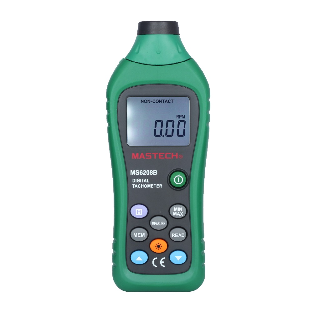 MASTECH MS6208B 5-digit LCD Non-contact Laser Digital Tachometer Meter Tester 50RPM-99999RPM waterproof bluetooth v3 0 bathroom speaker w microphone suction cup camouflage green
