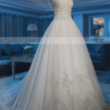 MTOB1867 A-Line Sleeveless Chapel Train Wedding Dress