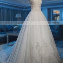 MTOB1867 A-Line Sleeveless Chapel Train Wedding Dress