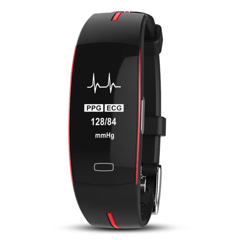 TEZER di alta pressione sanguigna banda heart rate monitor PPG + ECG braccialetto intelligente inseguitore di fitness Orologio intelligente Traiettoria GPS