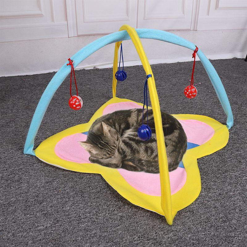 Home & Garden Hanging Cats Play Mat With Balls Cat Bed Hammock Tent House Comfortable Foldable Hangmat Kat Pet Cat Toy Perch For Kitten Ferret Convenience Goods Cat Supplies