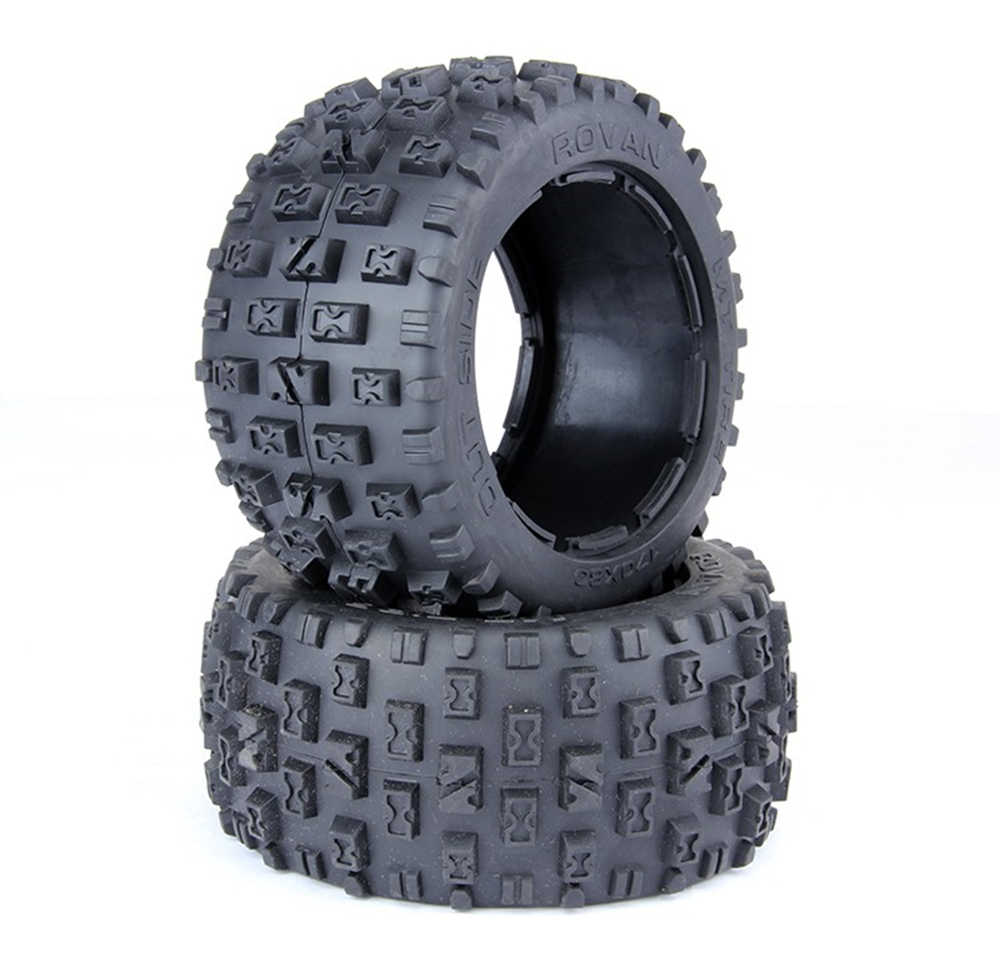 2pcs rc car rear wasteland tires assembly for 1:5 scale HPI RACING/KM baja 5B 5T 5SC LOSI TDBX FS racing MCD remote control car