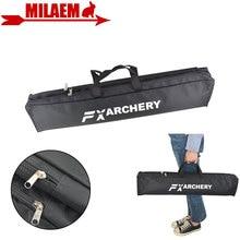 1pc 양궁 Recurve 활 Longbow 캔버스 활 가방 더블 레이어 휴대용 수호자 방수 핸드백 사냥 슈팅 액세서리