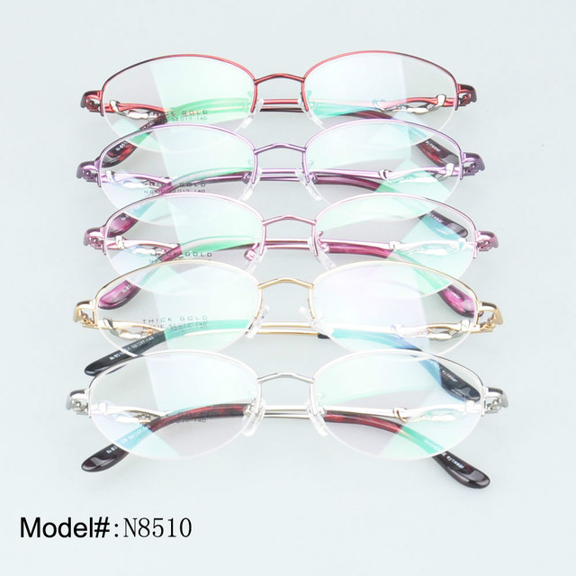 0d460f818a8 8510 woman s designer half rim metal crystal myopia eyewear prescription  eyeglasses hyperopia spectacles glasses optical frames