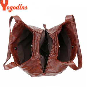Image 3 - Yogodlns Vintage Vrouwen Handtas Ontwerpers Luxe Handtassen Vrouwen Schoudertassen Vrouwelijke Top Handvat Tassen Mode Merk Handtassen