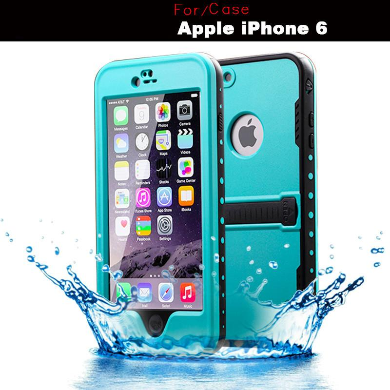 original redpepper cell phone shockproof waterproof case for iphone 5 5s 6 6plus cover shell bag with kickstand +package