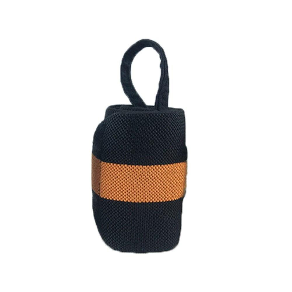 1 шт. вес для подъема кистевой ремень Фитнес Спорт бандаж регулируемая опора для запястья - Цвет: Оранжевый