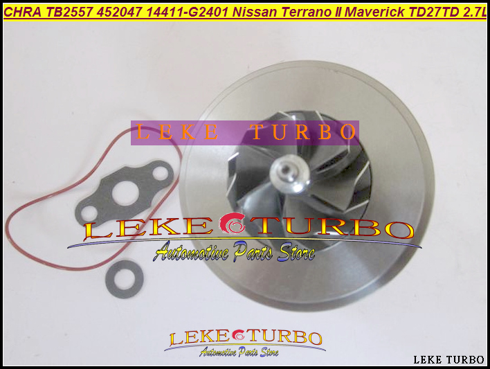 Turbocharger Cartridge Turbo CHRA TB2557 452047 452047-5001S 14411G2401 14411-G2401 For Nissan Terrano II Maverick TD27TD 2.7L